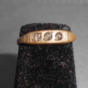 "Antique Estate Fresh Gold Tone ""Checo"" Ring"
